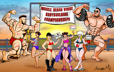 Street Fighter Summer Sports Special 2018 Colored by MarioUComics