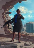 Amanda Waller by Biram-Ba