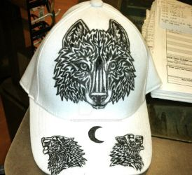 Tribal Wolf Hat by chezarawolf