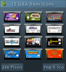 GBA Roms  [Cartridge Icons] by VoidSentinel