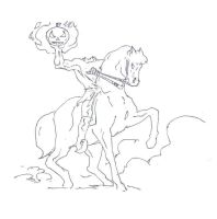 Headless horseman drawing (sleepy hollow) by electronicdave