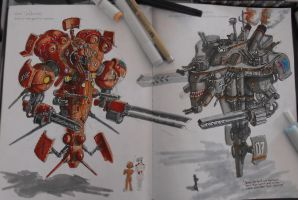 Mech Sketches by Ivanuss