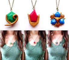 Spiritual stones necklaces by curry-brocoli