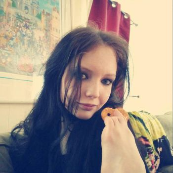 What?  I'm just eating pretzels by GothicRavenMidnight