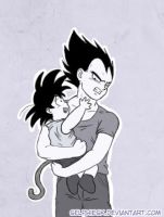 Commission - Vegeta and Goku by SelphieSK