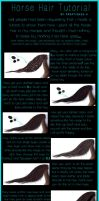 Simple Horse Hair Tutorial by Kreatiques-x