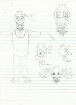 School Sketches 8-Withered Chica by AdmiralNighton