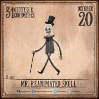 Day 20 of 31: Mr. Reanimated Skull by chrisraimoart