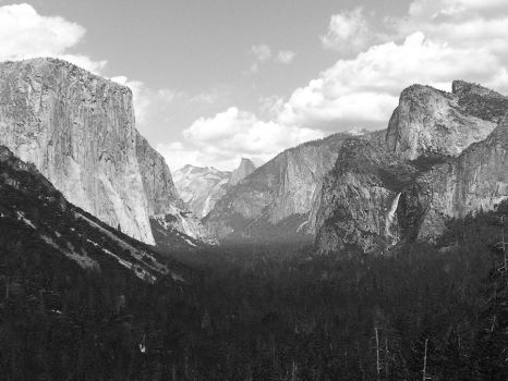 Yosemite Valley, Tunnel View by NorvellPhoto