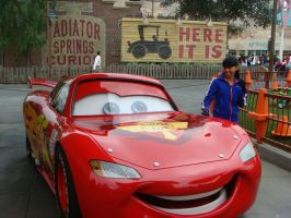 I meet Lightning McQueen in person at Cars Land by Magic-Kristina-KW