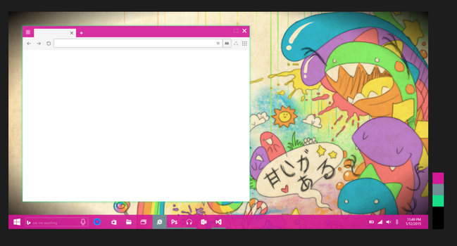 Concept 6 : Window + shadow border ( pink theme ) by JFIII