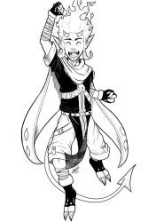 [COMM] Character victory. 1 (BnW) by Jefra