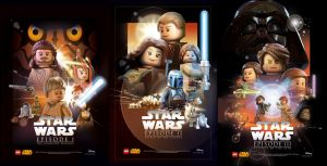 Star Wars Celebration Posters Ep.1-3 by moleism