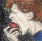 Cracked Actor eating an apple by gagambo