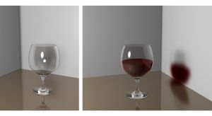 Glass material test.. by saChicals