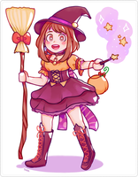 Witch Uraraka by kyaratora