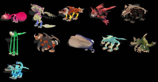 My 11 Best Spore Creatures by MistClancreater