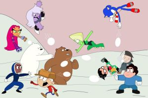 A huge snowball fight by Magnetic-LightPulse