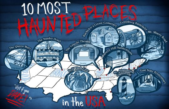 10 Most Haunted Places in the USA by AngryArtist113