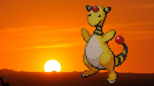 Pokemon #20 - Ampharos (background) by MagicPearls
