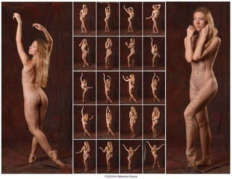 Stock:  Poppy Seed Nude Ballet Poses by ArtReferenceSource