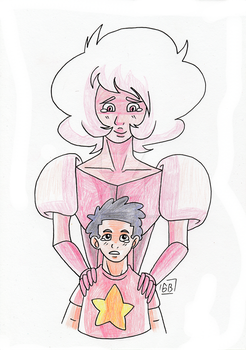 [Steven Universe] Pink and Steven by Gihellcy-Bleizdu