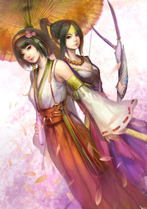 inahime and okuni by naturaljuice