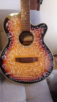 beautiful cool GUITAR paint by kusaman