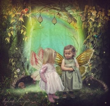 Woodland Fairies by bamels