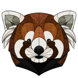 Stained Glass Red Panda by Sketchanie