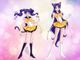 Sailor Luna and Eternal Sailor Luna by CrystalSailorMoon
