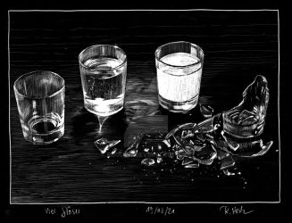 Four glasses by RoodyN