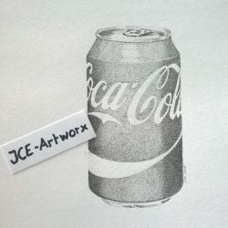 Stippling Coca Cola can by JCE-Artworx