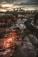 Cityview Sunset by 5isalive