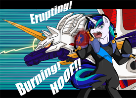 THIS HOOF OF MINE BURNS RED!!!! by himanuts