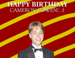 Happy Birthday Cameron Bowen! by Nolan2001