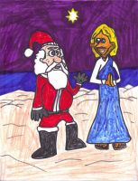 Jesus and Santa by SonicClone