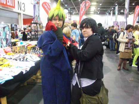 Rin and Amaimon - MCM Expo OCT by XbeccaXvampireX