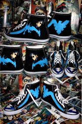 Nightwing Shoes by mori-miko