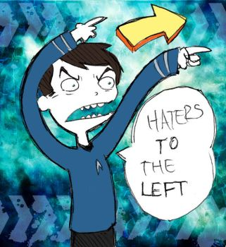 HATERS TO THE LEFT by taconaco