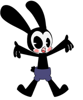 Oswald the lucky rabbit  by Pastel-Strawberry