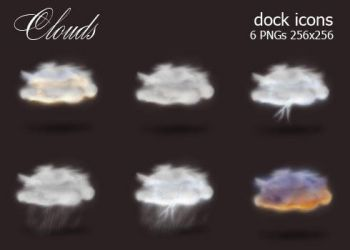 Clouds Dock Icons by deelo