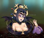 [CM]Lilithmon sinking in tar by DrAltruist
