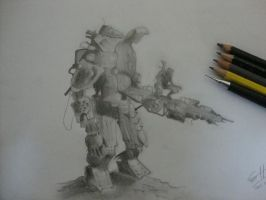 Titanfall Free Hand Drawing by shehan103