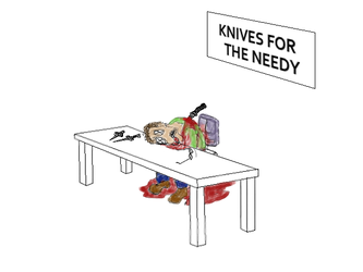 Knives for The Needy by TrinaryOuroboros