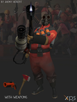 Pyro - Team Fortress 2 (Blue and Red) by JhonyHebert
