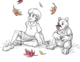 Disney Inktober #13 - Fall Leaves by KelpGull