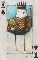 Bird- King of Clubs 2 ACEO by SethFitts
