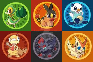 Black White Pokemon Buttons