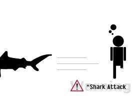 Warning - Shark Attack by wastinawayagain3